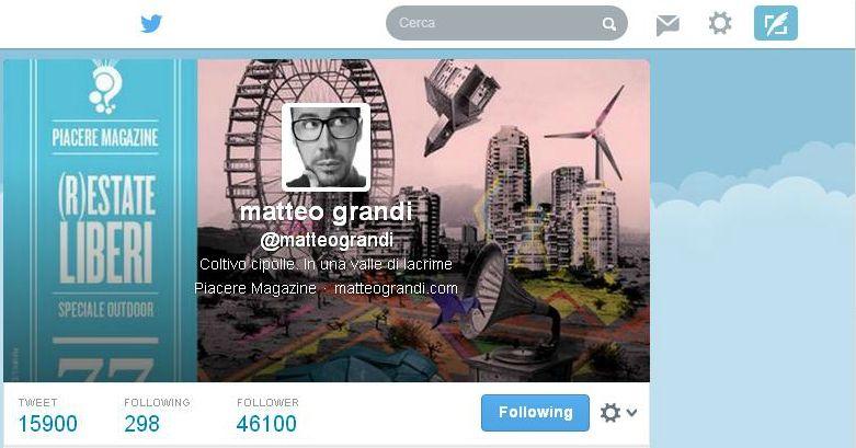lusso nuovo prodotto dal costo ragionevole Scrittori di aforismi su Twitter, Matteo Grandi